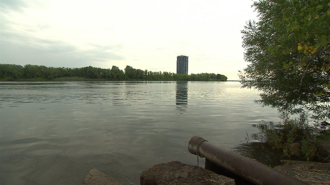 Déversement d'eaux usées dans le fleuve Saint-Laurent