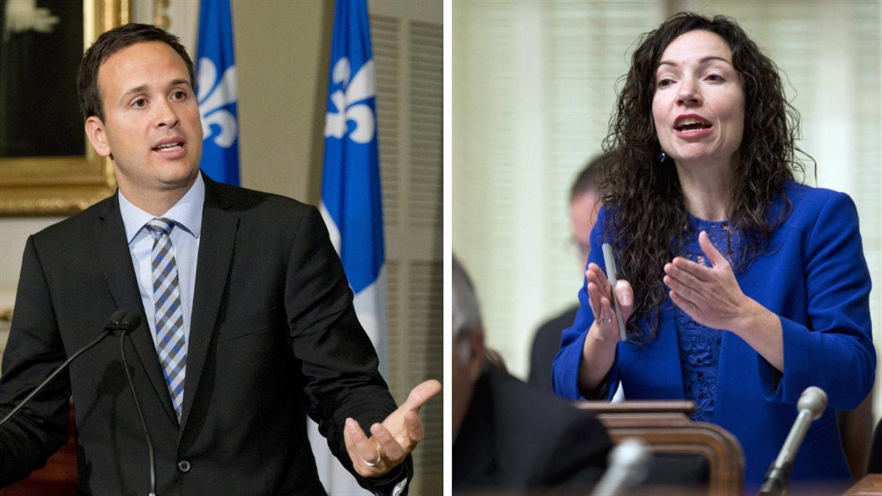 Les députés péquistes Alexandre Cloutier et Martine Ouellet
