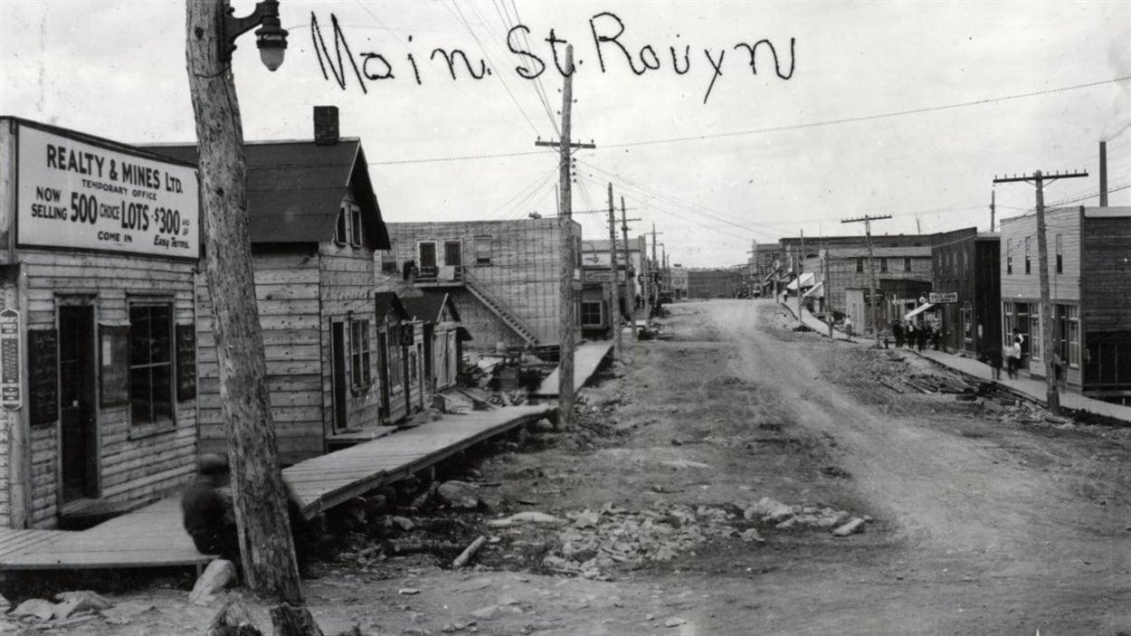 Rue Principale à Rouyn en 1928