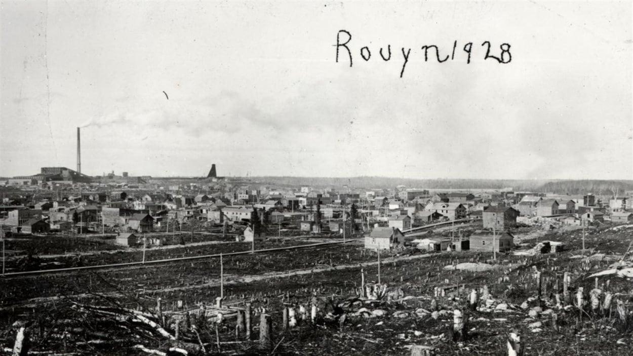 Vue générale de Rouyn en 1928