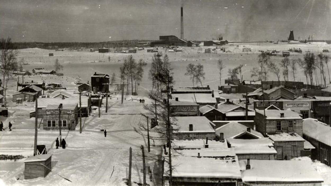 Village de Rouyn en hiver-décembre 1928