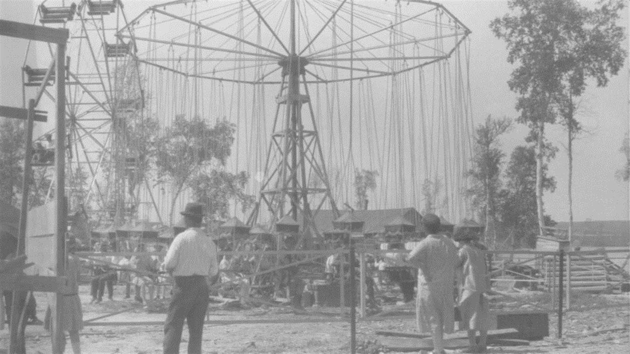 Cirque à Rouyn dans le cadre des célébrations de la Confédération du Canada en 1927