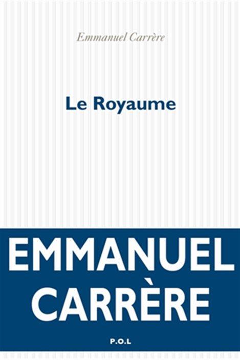 La couverture du « Royaume », d'Emmanuel Carrère.