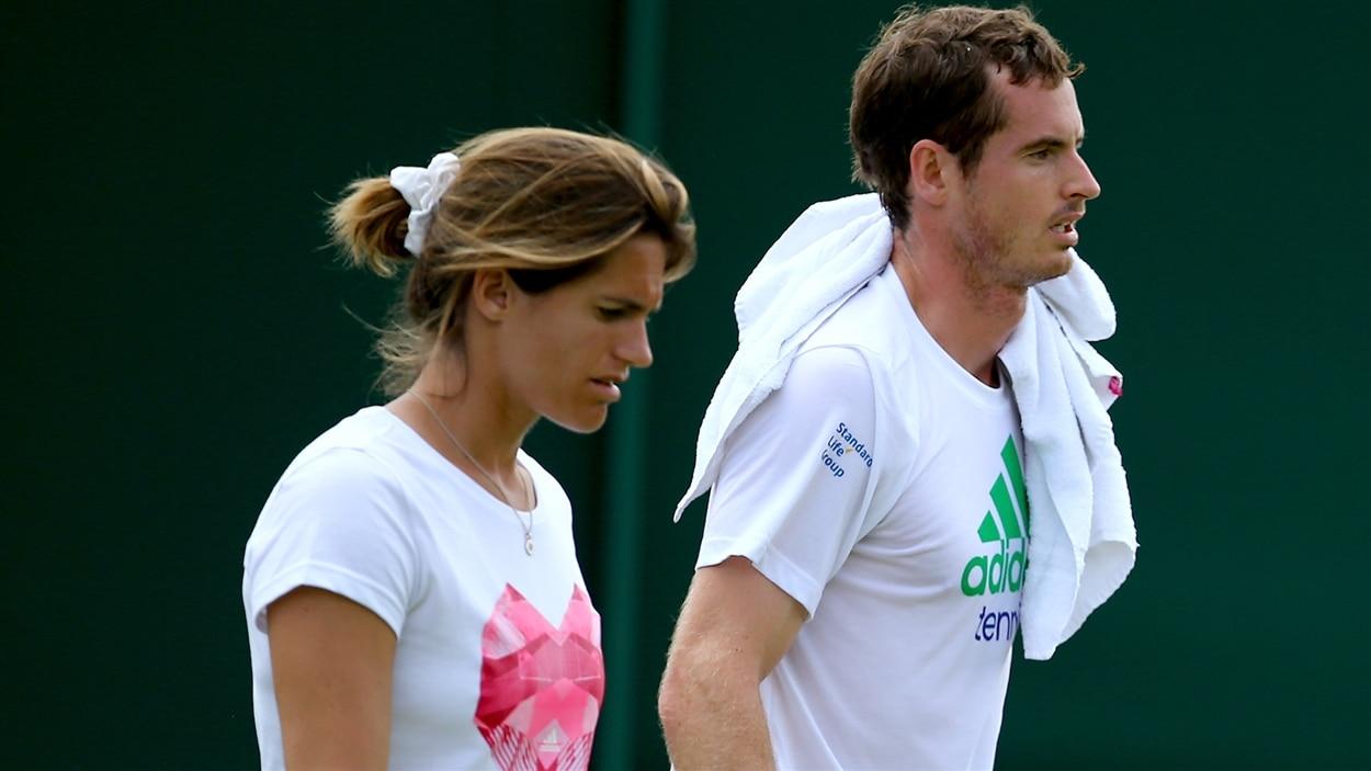 Amélie Mauresmo et Andy Murray