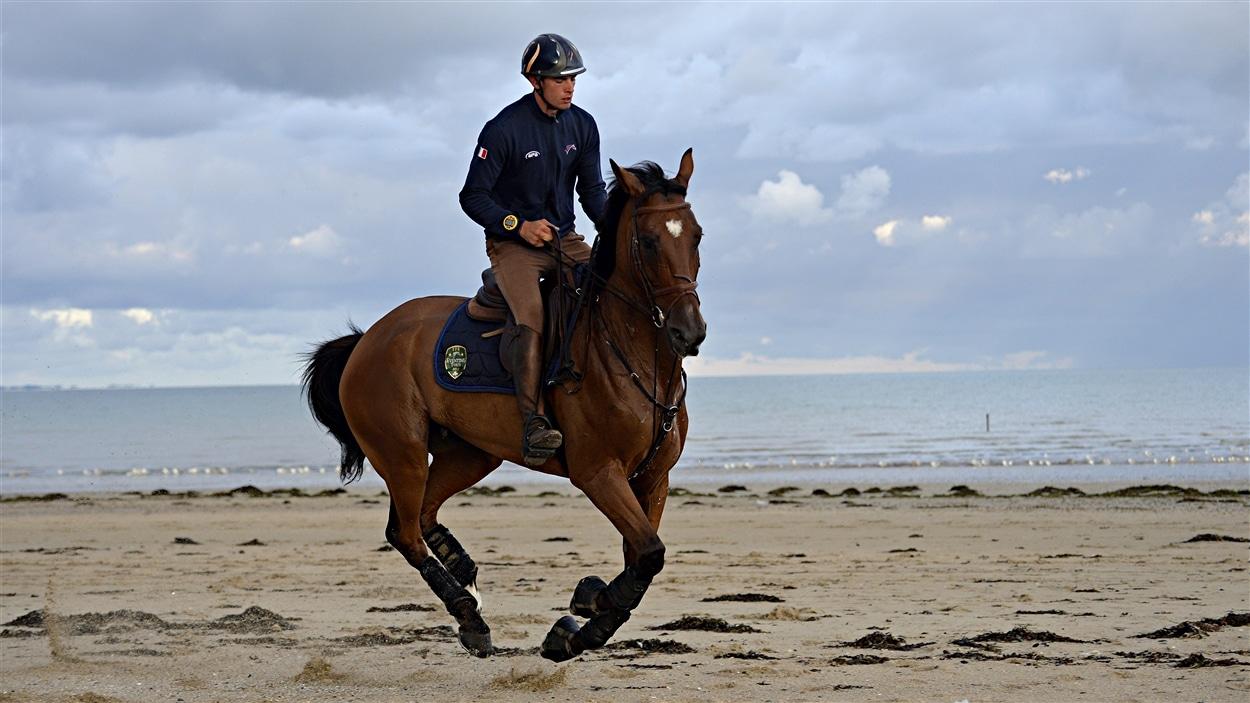 Le cheval Qalao des mers à l'entraînement
