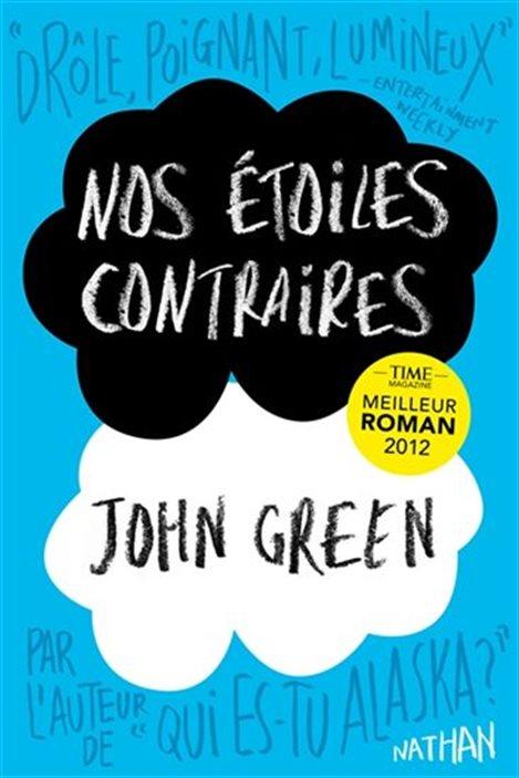 La couverture de « Nos étoiles contraires » de John Green.