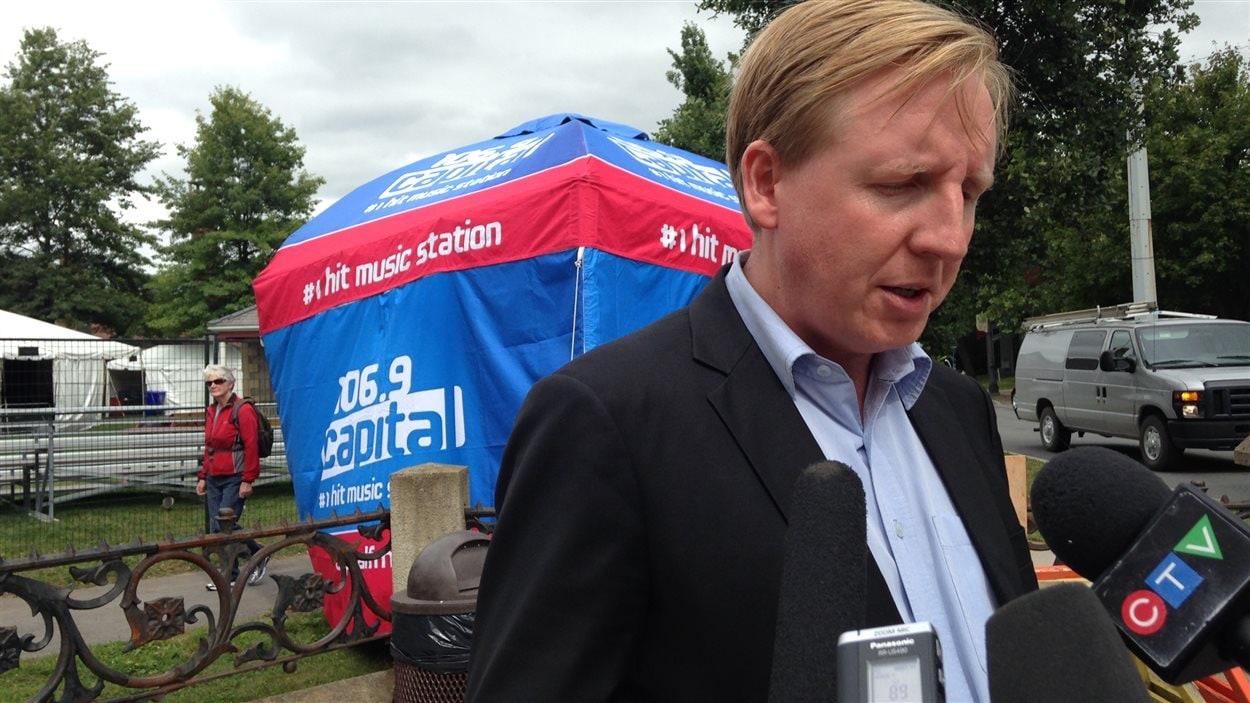 Le chef du NPD du Nouveau-Brunswick, Dominic Cardy.