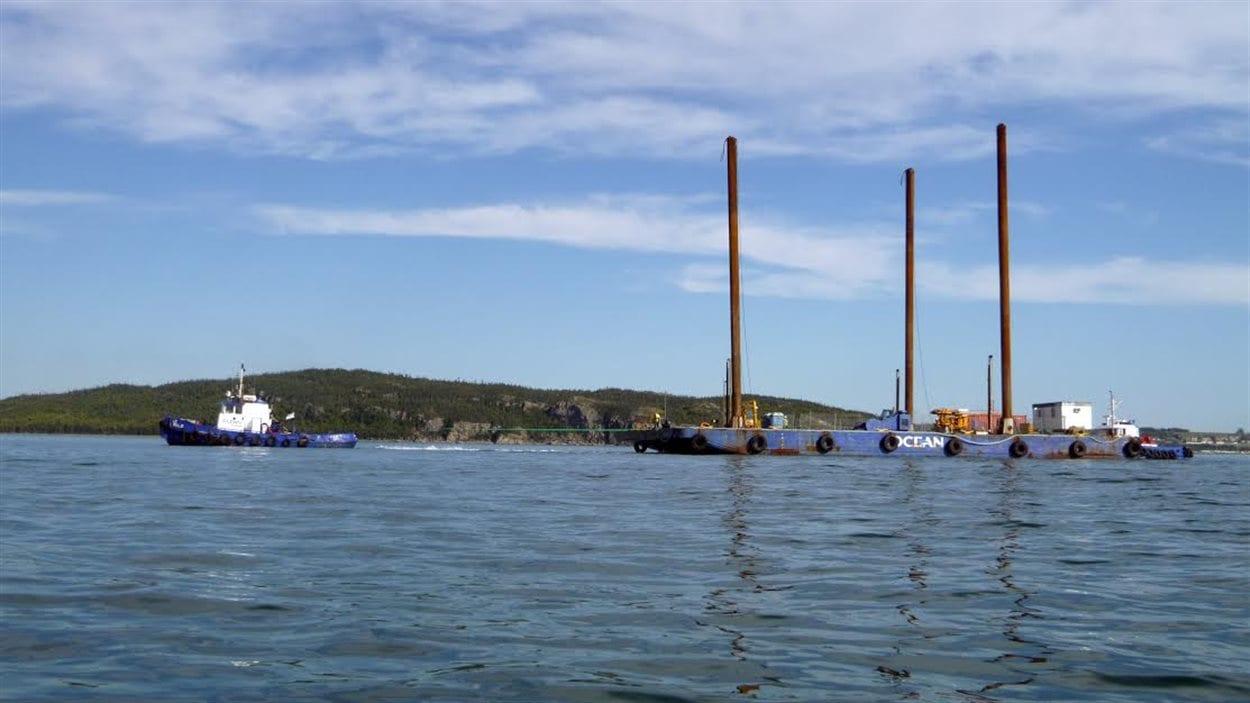 Les bateaux de TransCanada rentrent au port de Cacouna