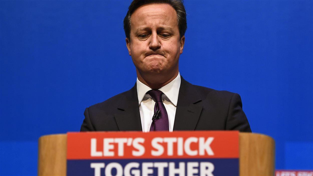 Le premier ministre britannique, David Cameron, s'adressant aux Écossais