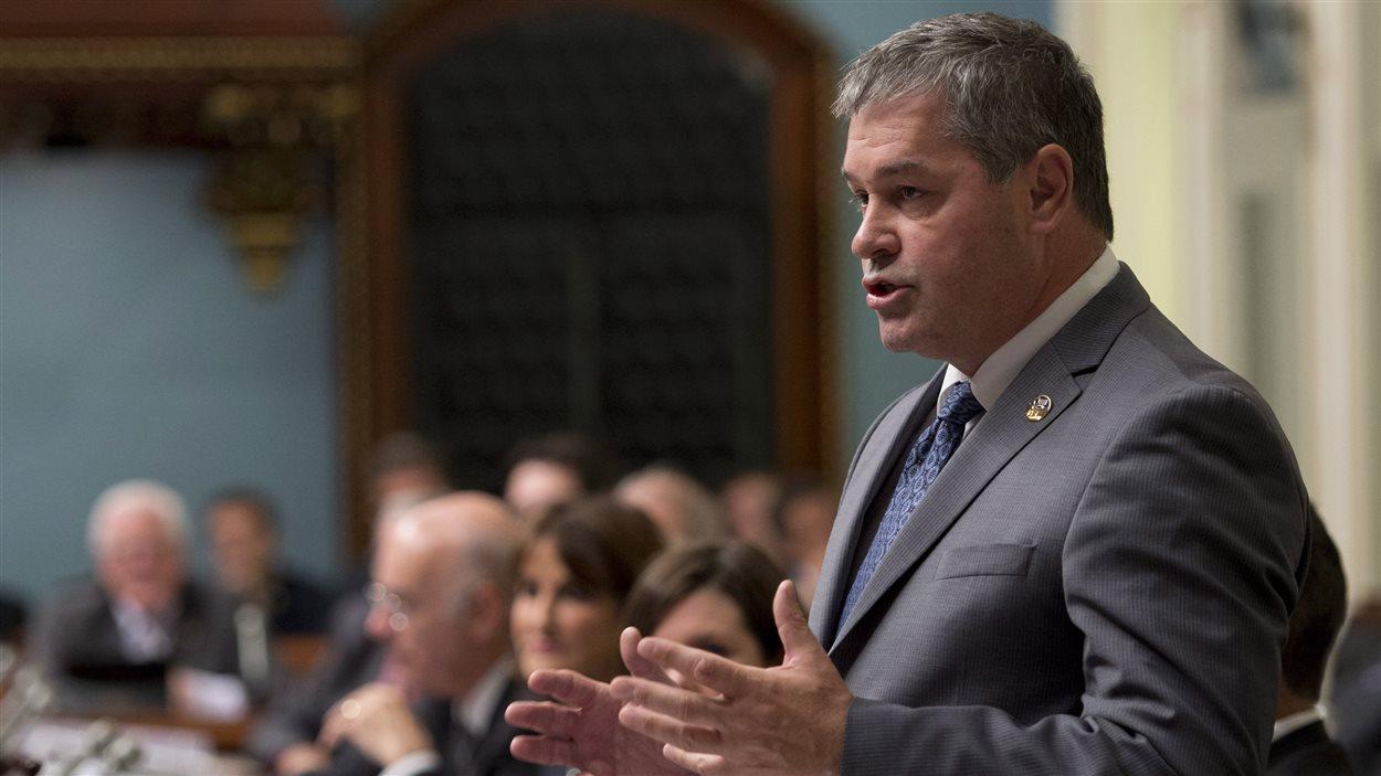 Le ministre de l'Éducation du Québec, Yves Bolduc, au premier jour de la session parlementaire à Québec, le 16 septembre 2014.