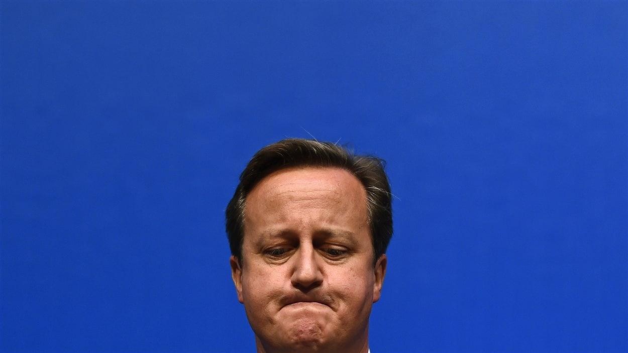 Le premier ministre britannique David Cameron livre un discours pour le camp du non le 15 septembre.