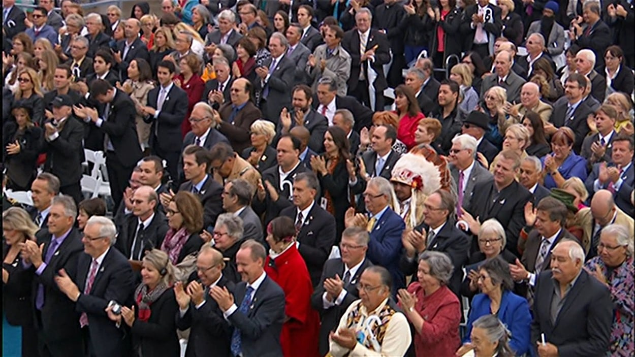 Quelque 800 personnes ont été invitées à l'inauguration du Musée canadien pour les droits de la personne, le vendredi 19 septembre 2014.