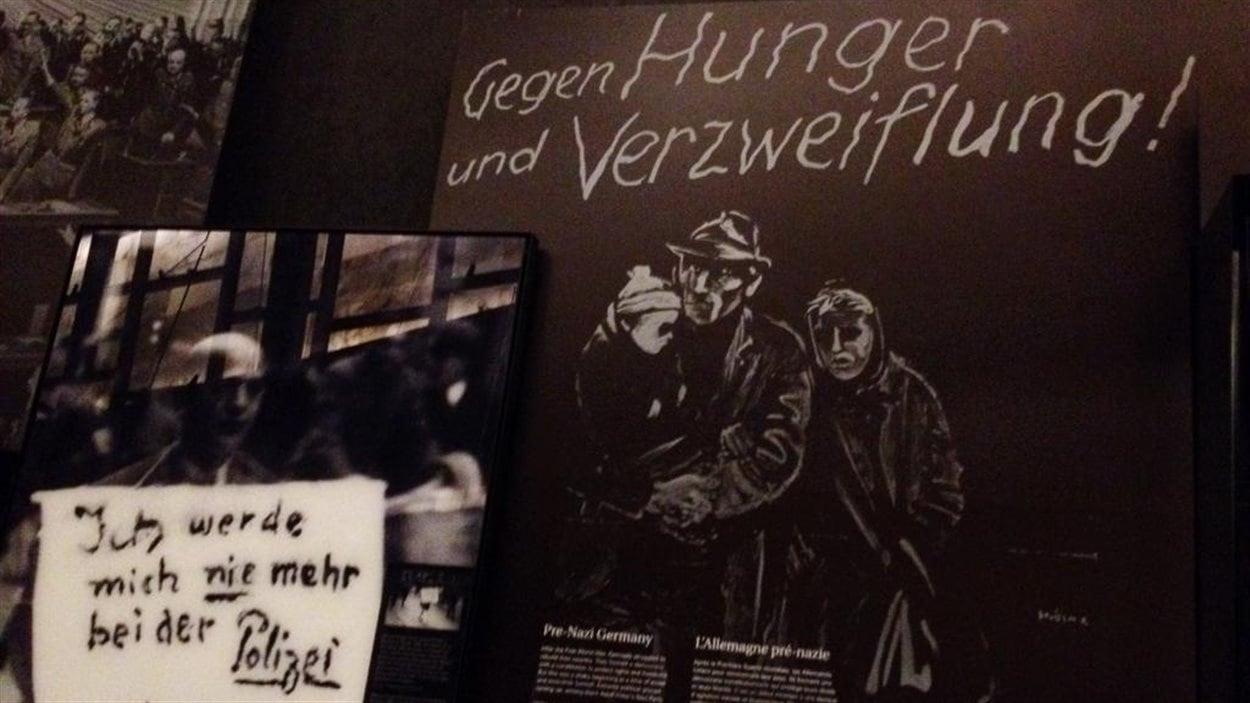 La galerie de l'Holocauste au Musée canadien pour les droits de la personne.