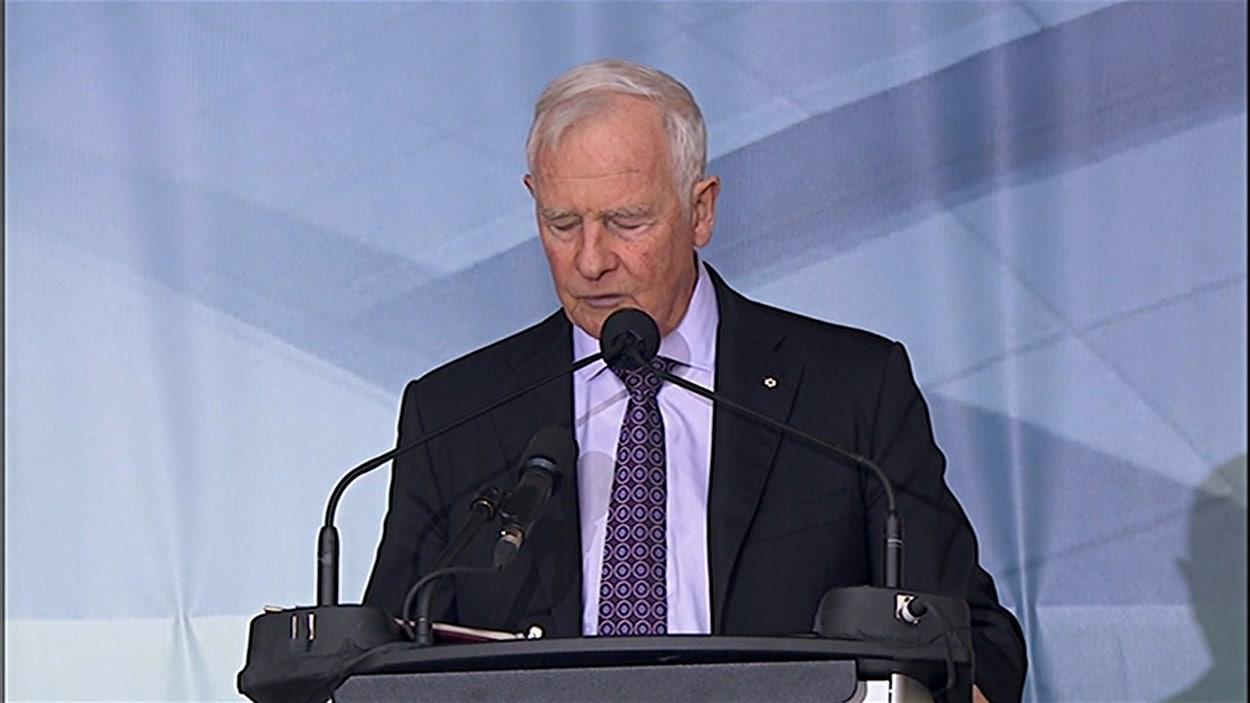 Le gouverneur général du Canada David Johnston a pris la parole lors de la cérémonie d'inauguration du musée. Le premier ministre Harper n'a pas pu y assister en raison d'un conflit d'horaire.
