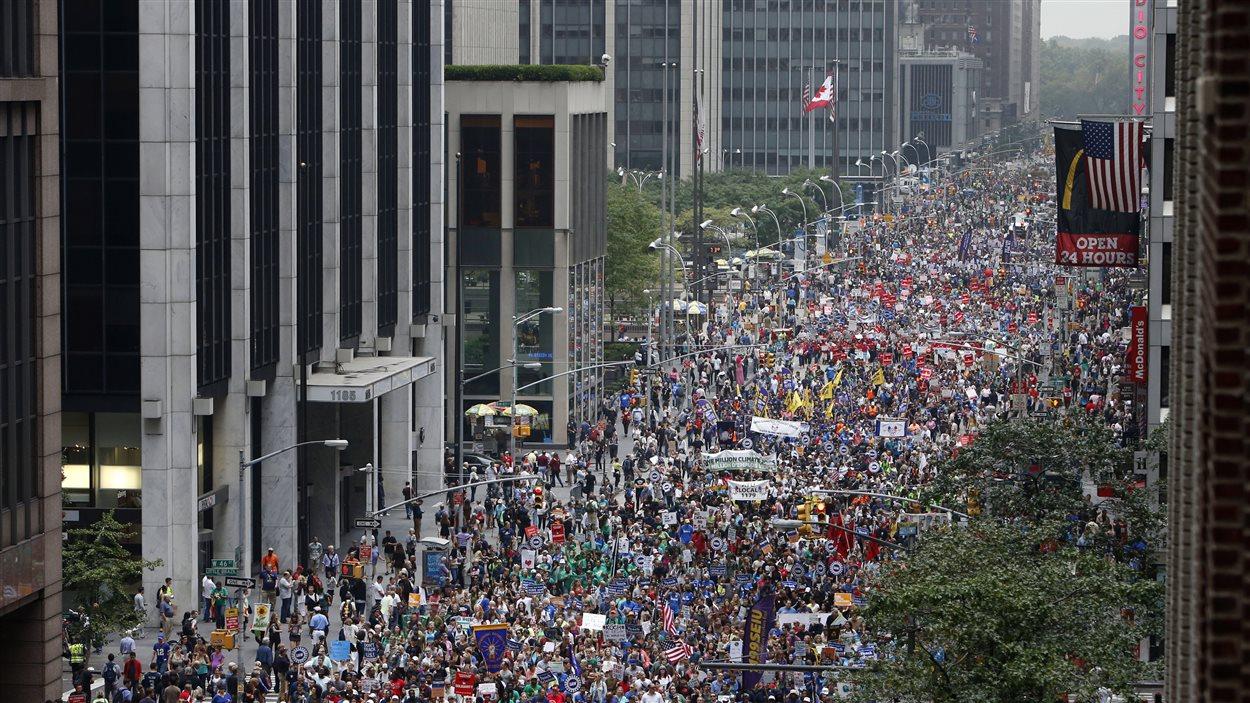 Manifestation pour le climat à New York, le 21 septembre