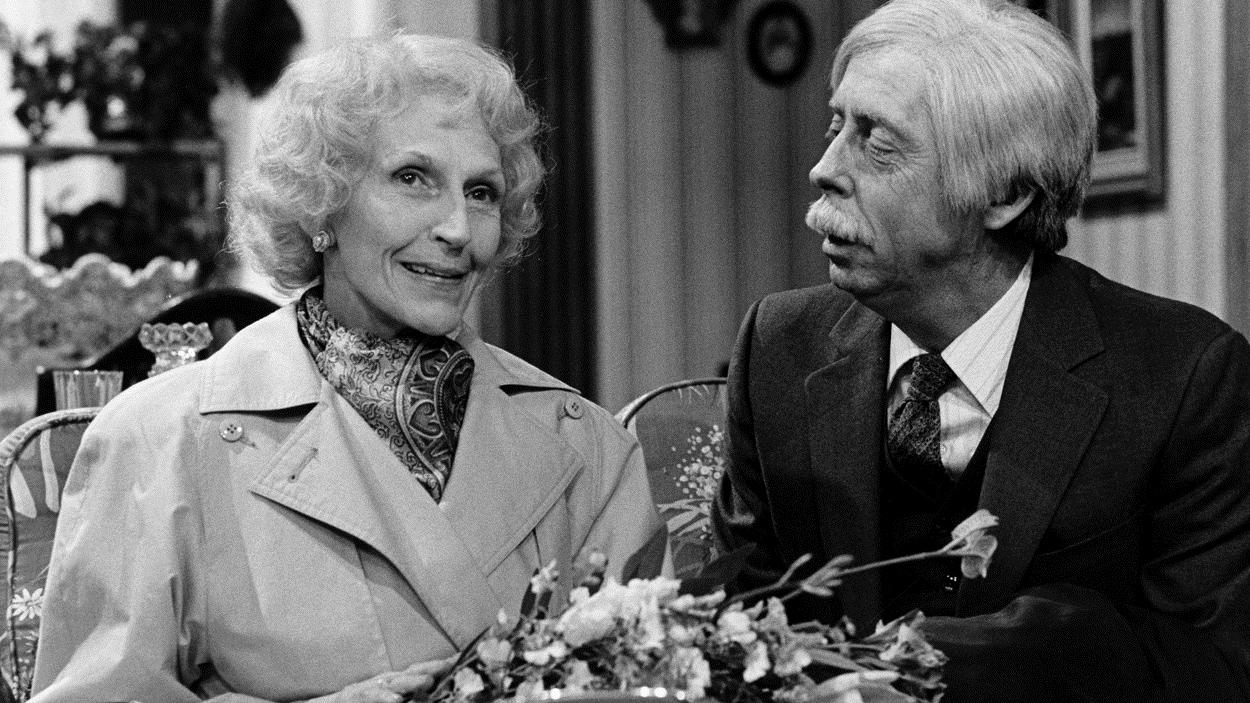 Janine Sutto et Gilles Latulippe dans «Poivre et sel» en 1987.