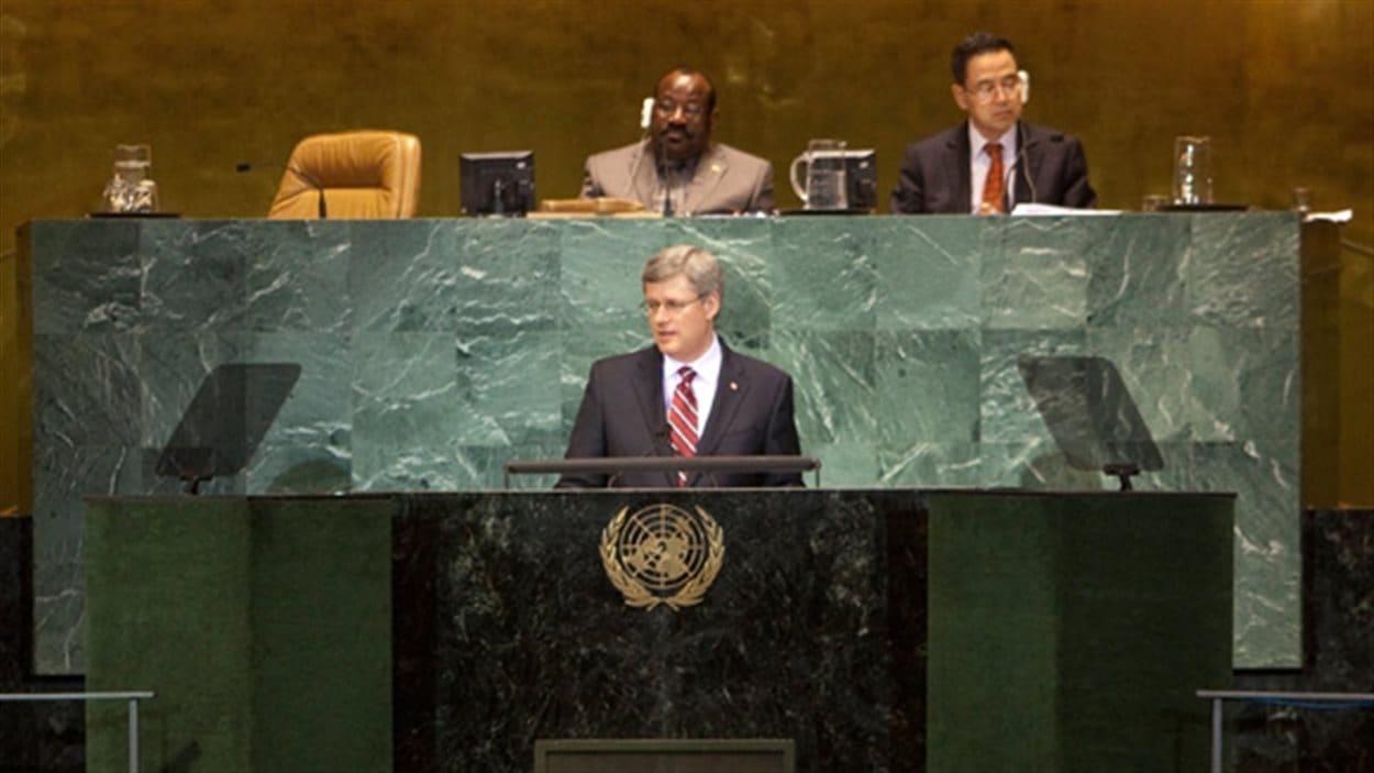 Stephen Harper à l'Assemblée générale de l'ONU, le 23 septembre 2010