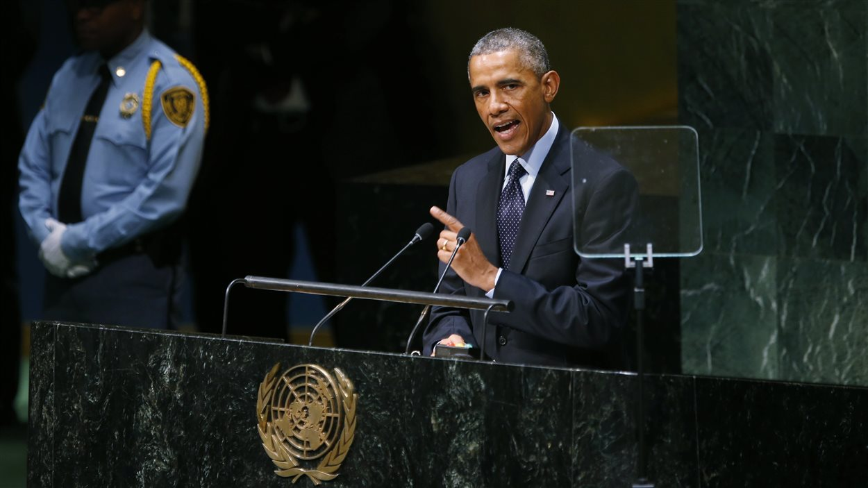 Le président Obama à la tribune de l'ONU