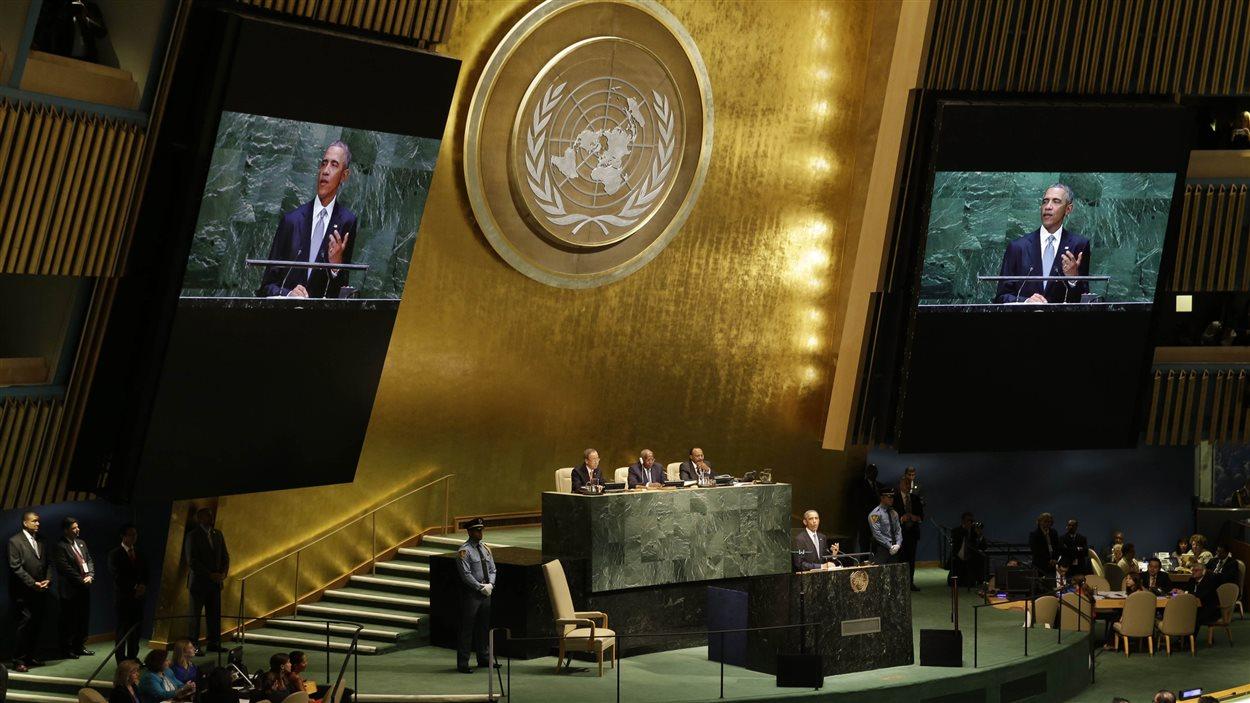 Barack Obama devant les membres de l'ONU