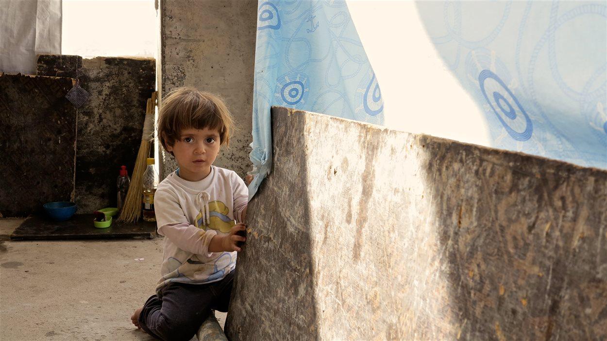 Un enfant réfugié en Irak