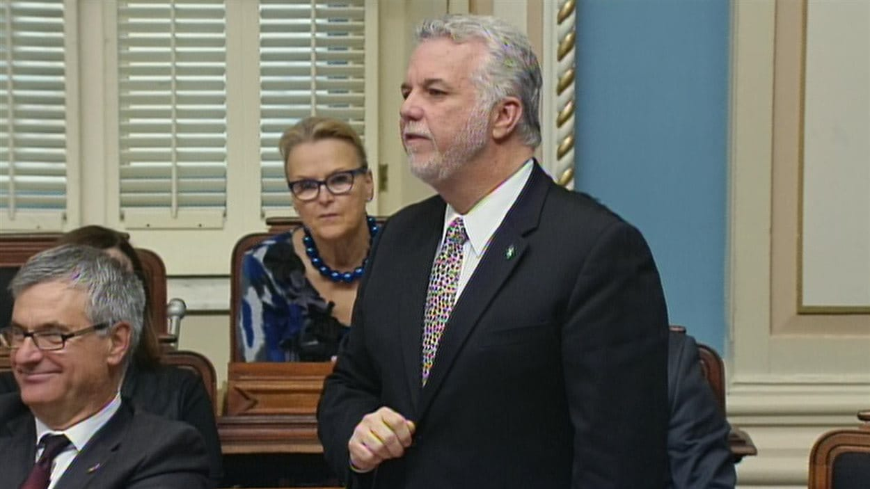 Le premier ministre Philippe Couillard le 25 septembre 2014