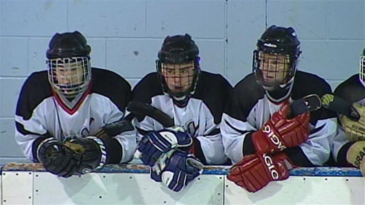 L'équipe de hockey du Collège Mathieu