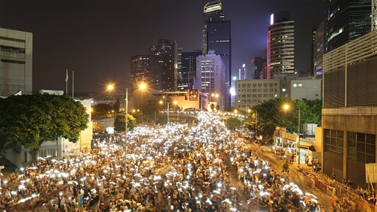 Le centre-ville de Hong Kong occupé par les manifestants