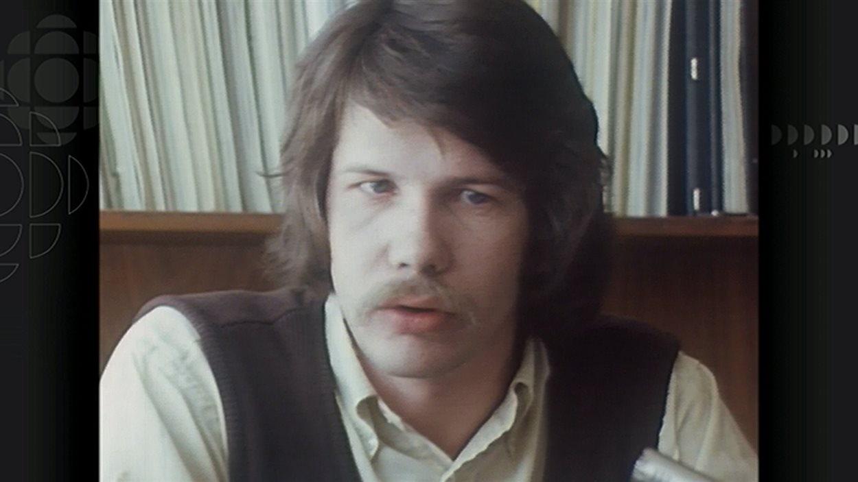 Jean Doré en 1974, alors qu'il était porte-parole de l'ACEF.