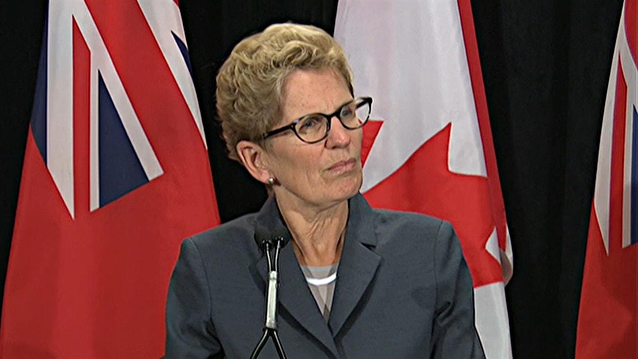 La première ministre ontarienne, Kathleen Wynne, de passage à Ottawa. (02-10-14)