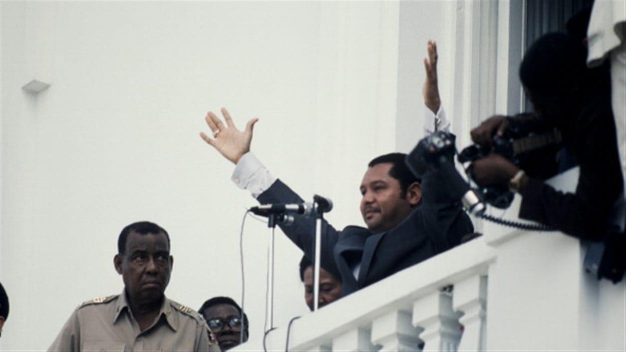 Jean-Claude Duvalier dans les années 80.