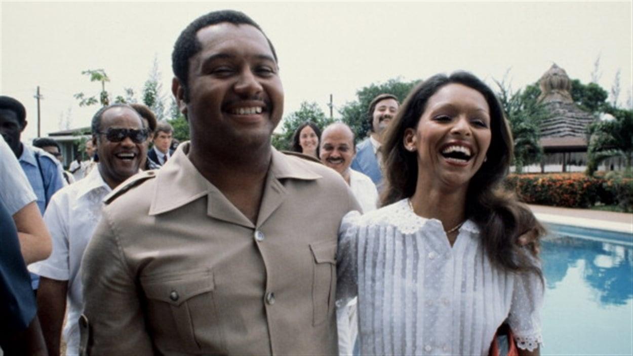 Jean-Claude Duvalier et sa femme Michele Bennet dans les années 80.