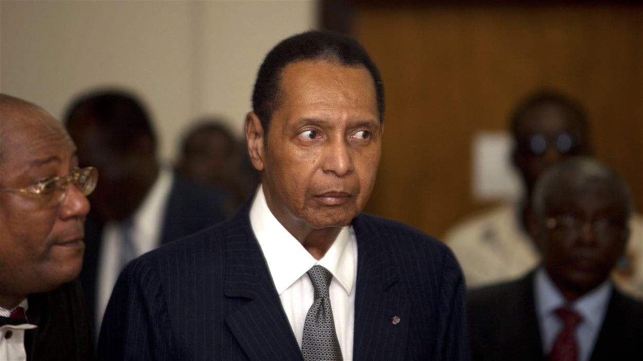 Jean-Claude Duvalier, le 28 février 2013, lors d'une audience au tribunal de Port-au-Prince.