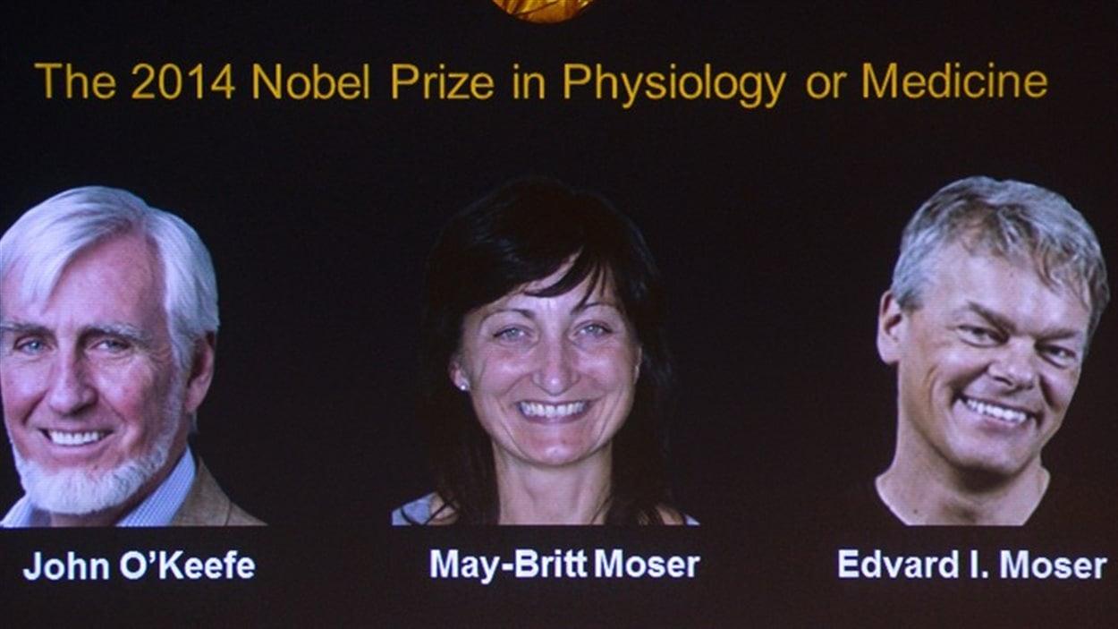 Les trois chercheurs récipiendraires du prix Nobel de médecine 2014.