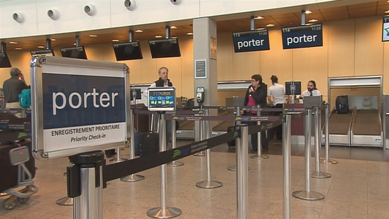 Porter Airline à l'aéroport Jean-Lesage