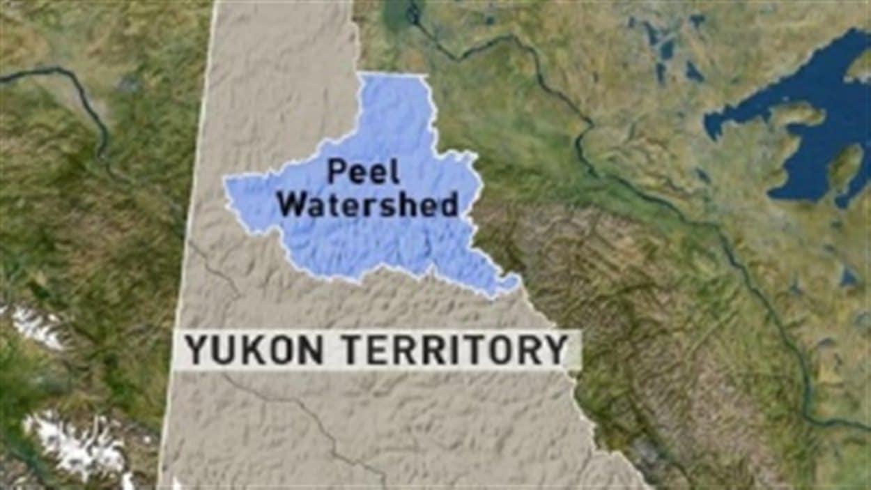 carte du Yukon montrant la région de la rivière Peel