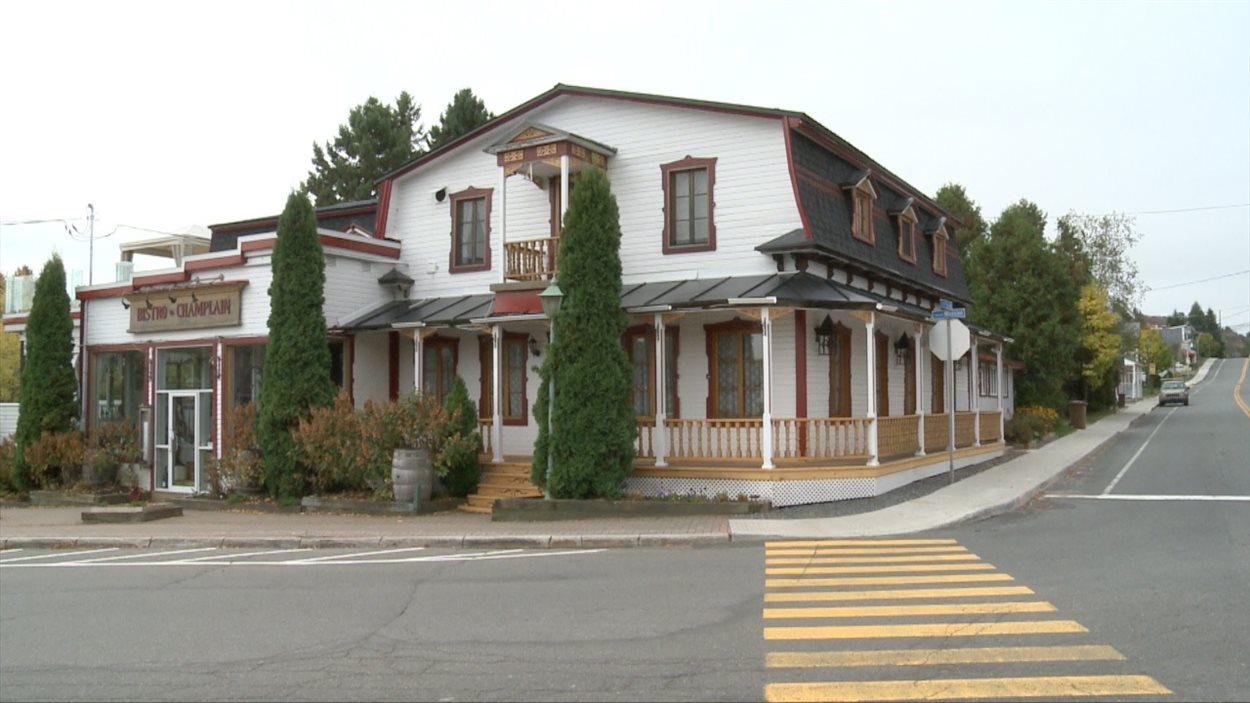 Le Bistro à Champlain, situé dans l'ancien magasin général de la municipalité.