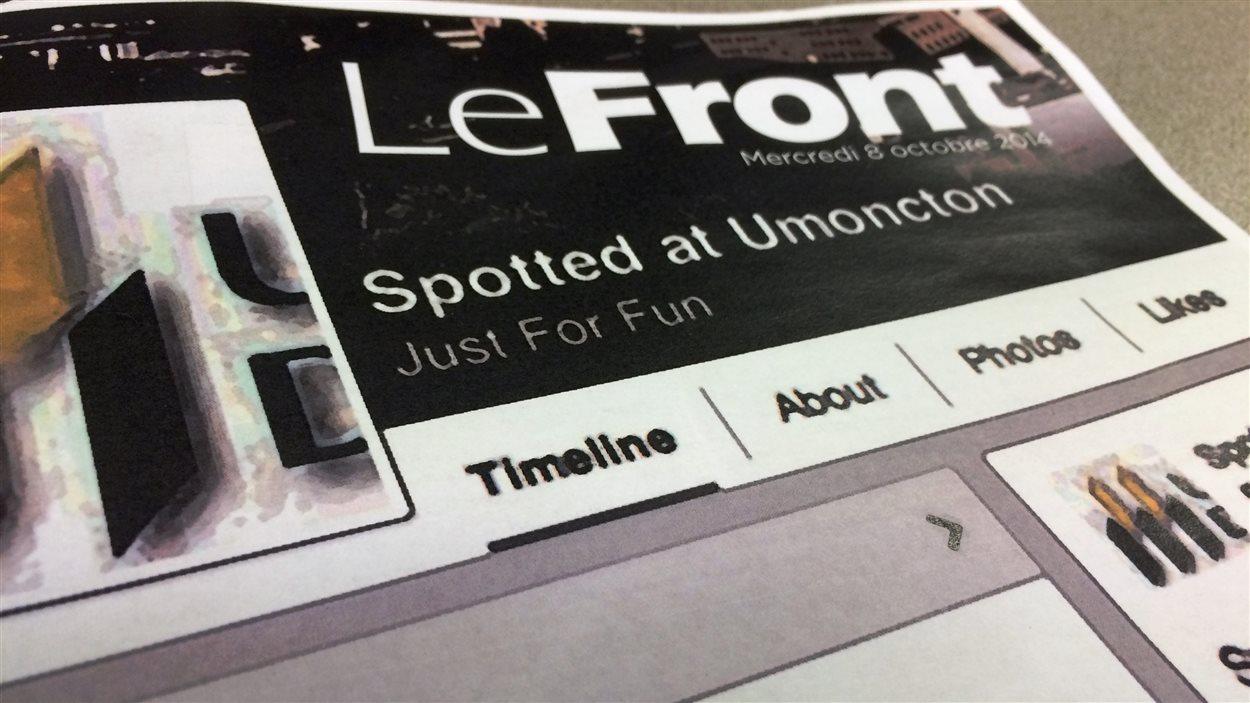 Le journal Le Front