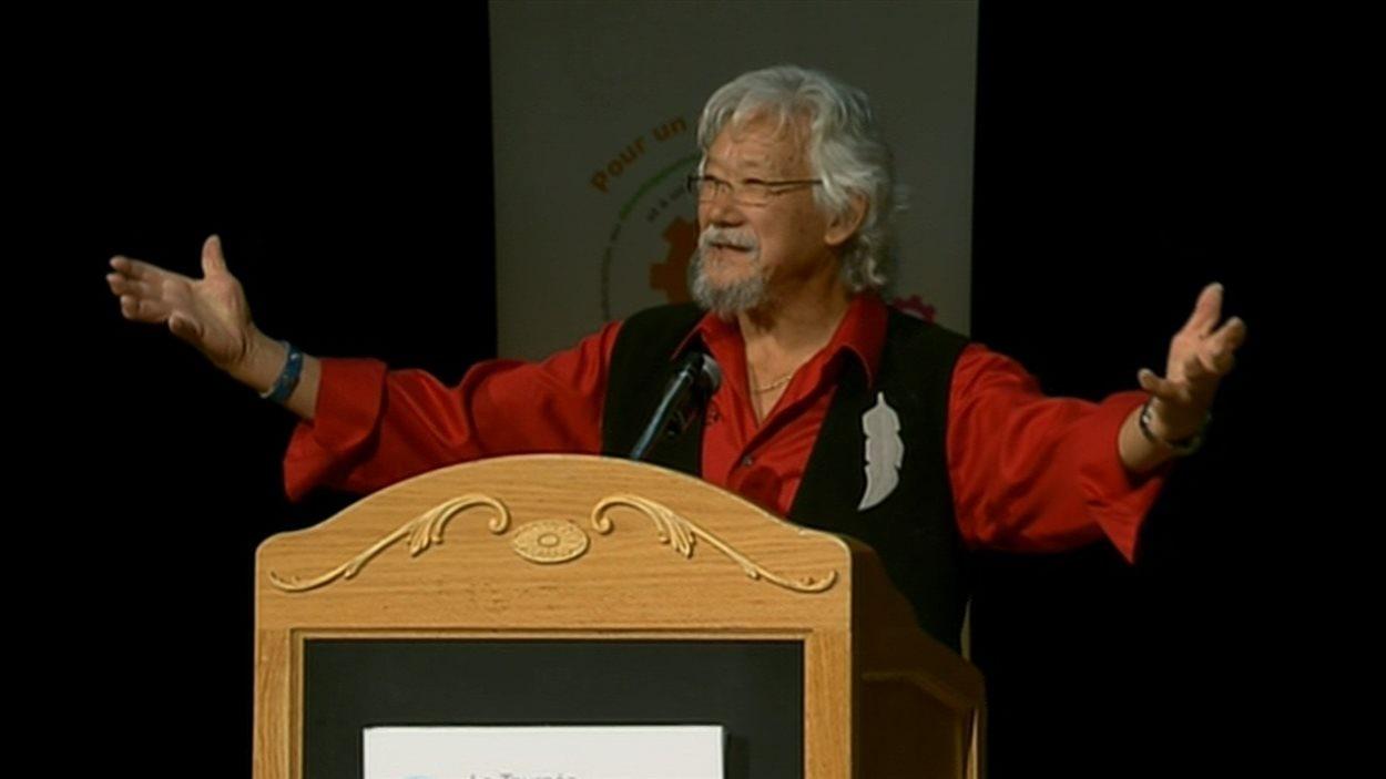 David Suzuki lors de son passage à Québec