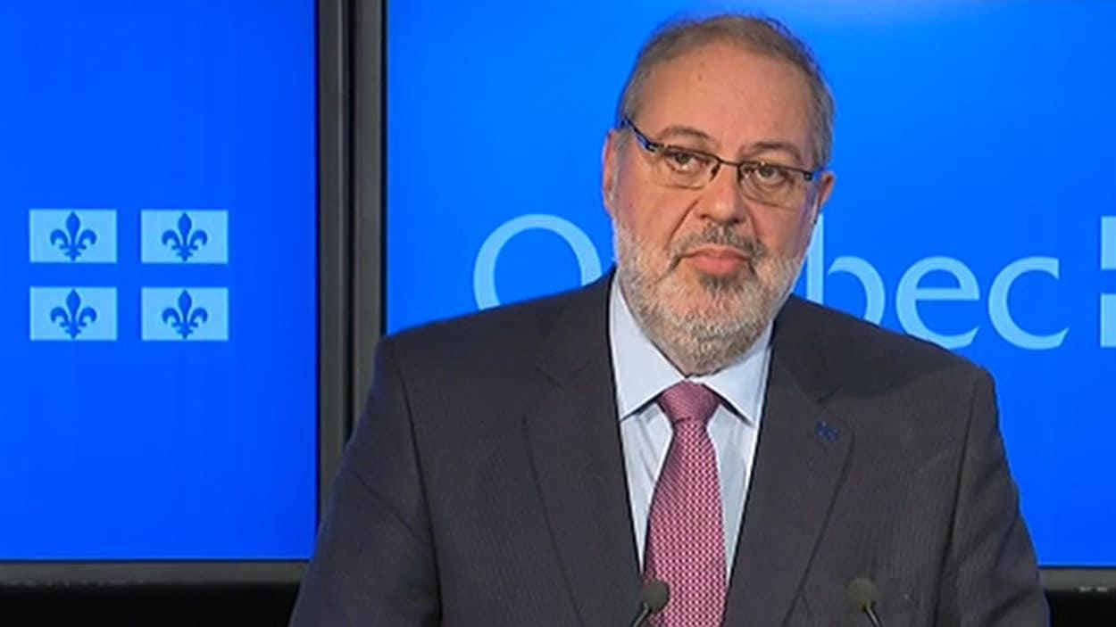 Le ministre de l'Énergie et des Ressources naturelles, Pierre Arcand.