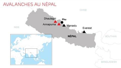 Carte de l'Himalaya.