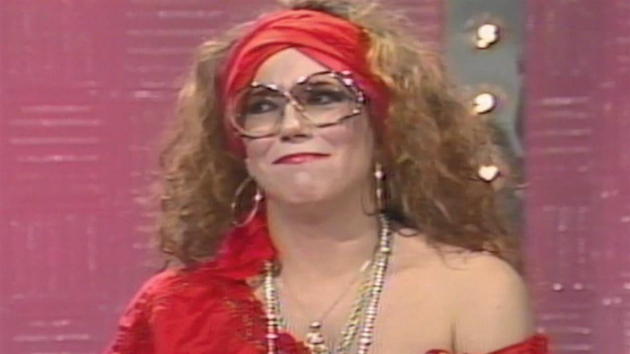 Francine Grimaldi à l'émission Carte d'identité de Radio-Canada, en 1987