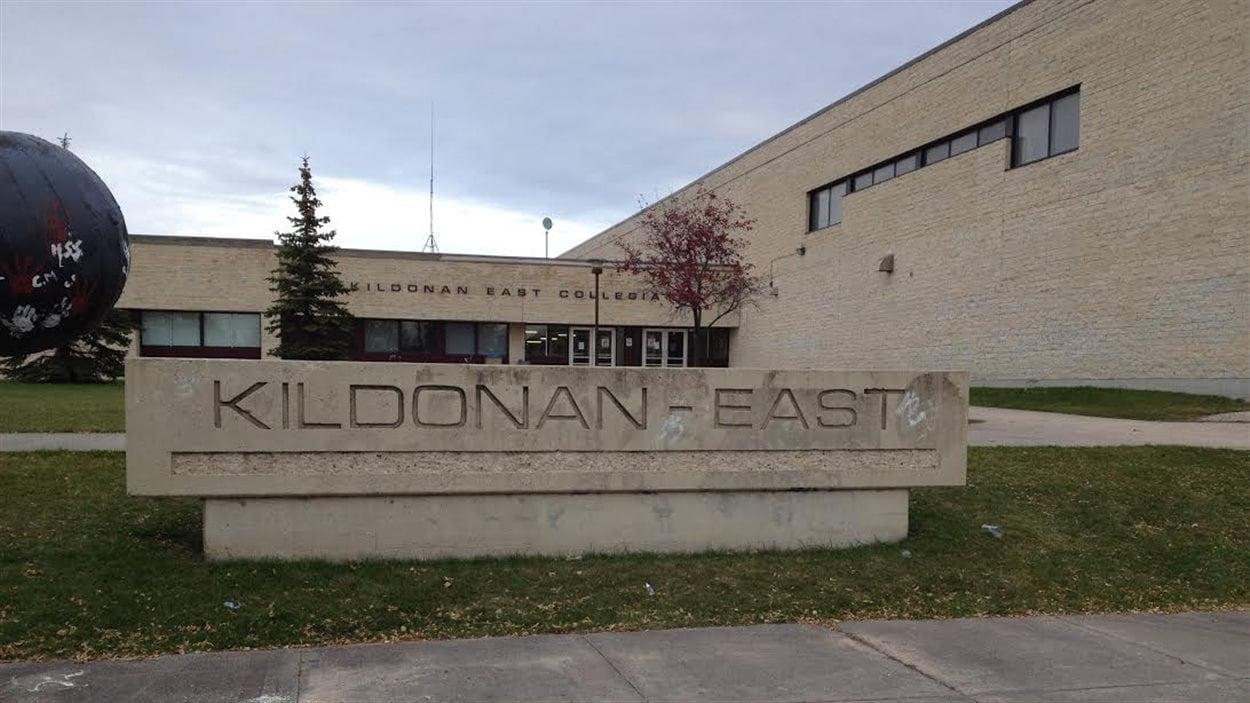 L'École Kildonan-East Collegiate, à Winnipeg, le 16 octobre 2014.