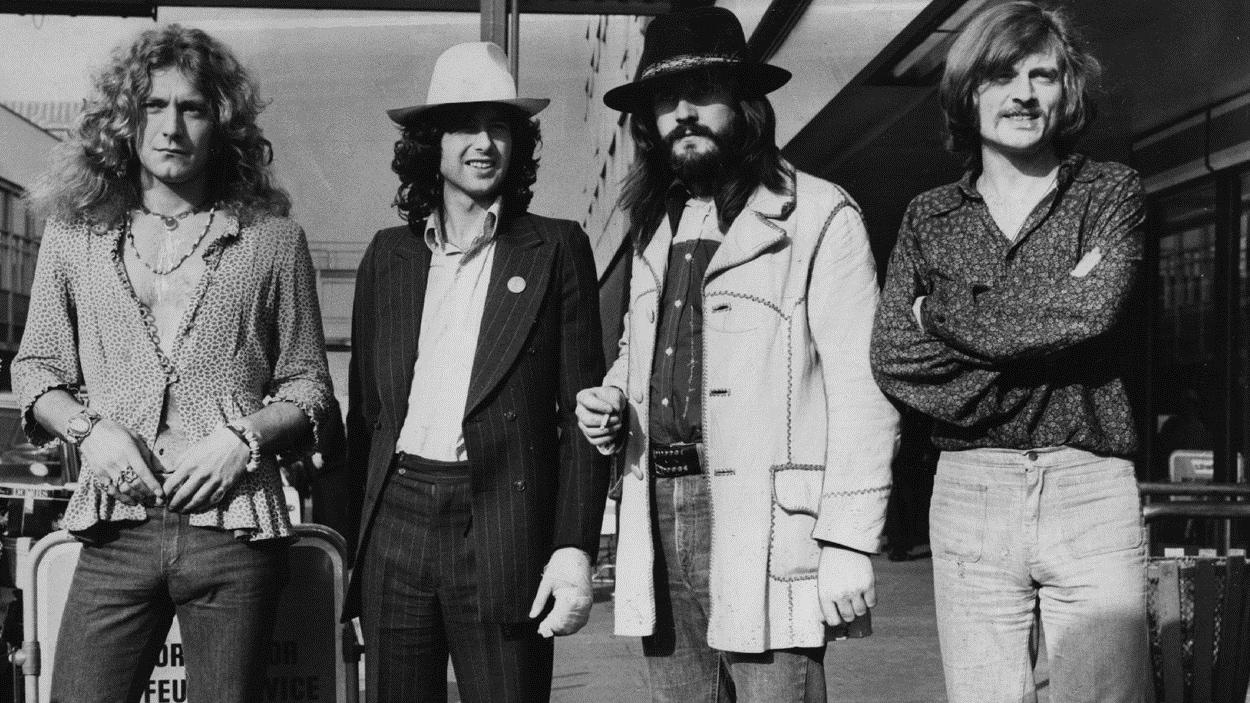 Led Zeppelin en 1973.