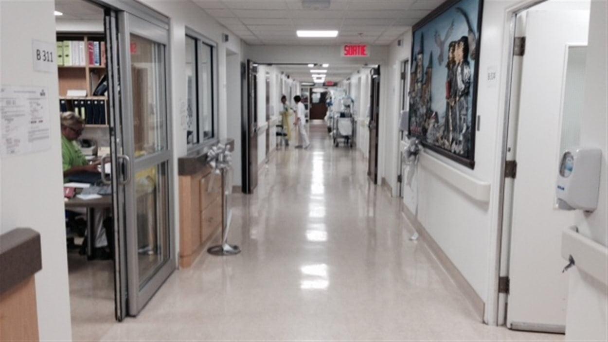 L'aile qui regroupe les services d'obstétrique, de pédiatrie et de soins de courte durée pour aînés de l'hôpital de Dolbeau