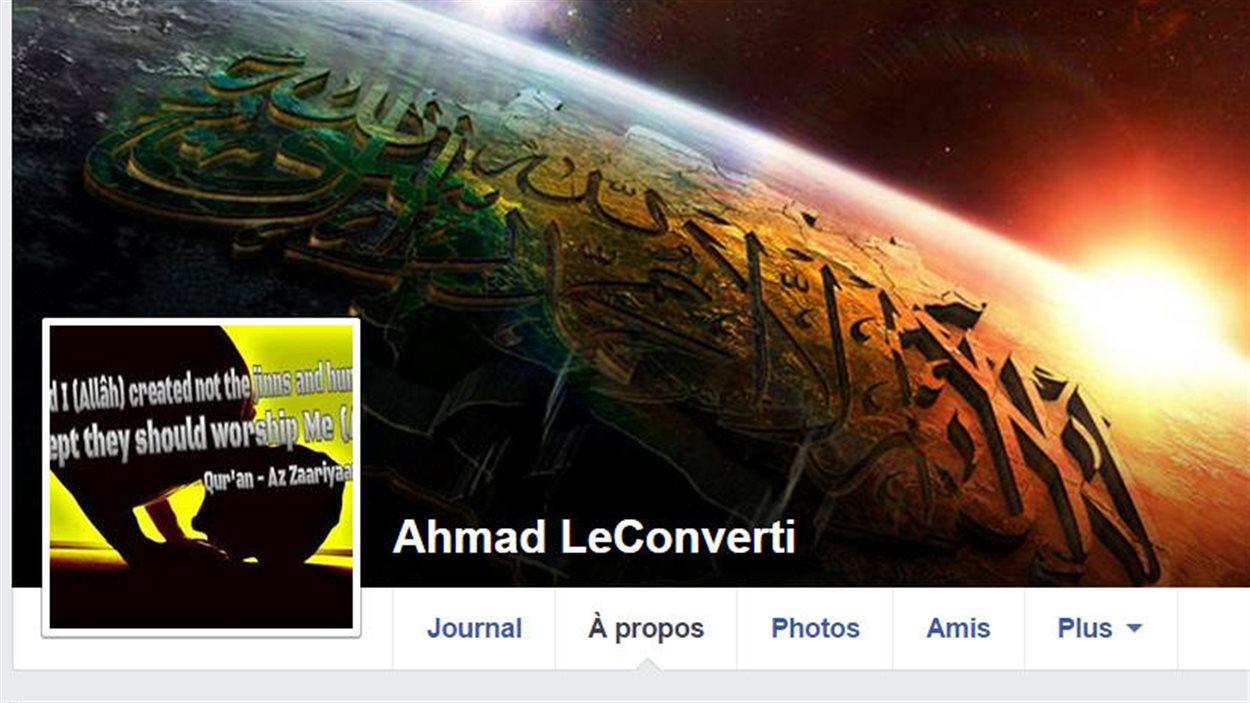 La page Facebook de celui qui se présentait comme Ahmad LeConverti