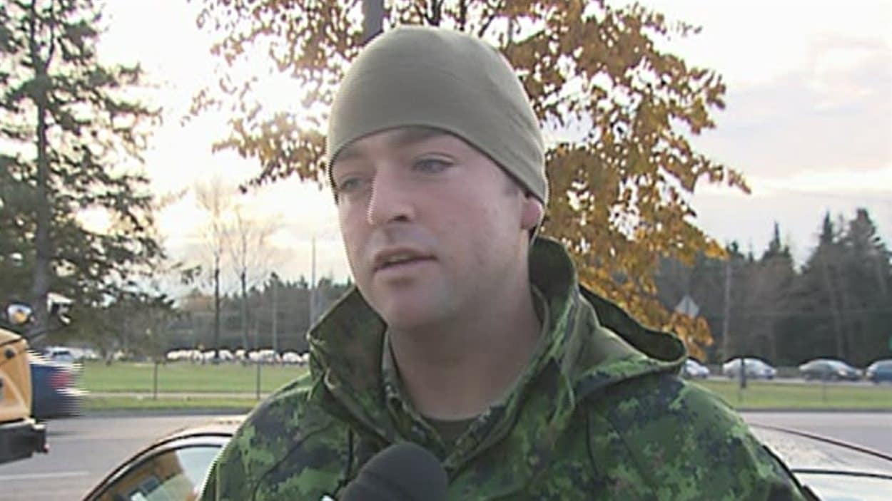 Le caporal Bourgault de la base miltaire de Valcartier.