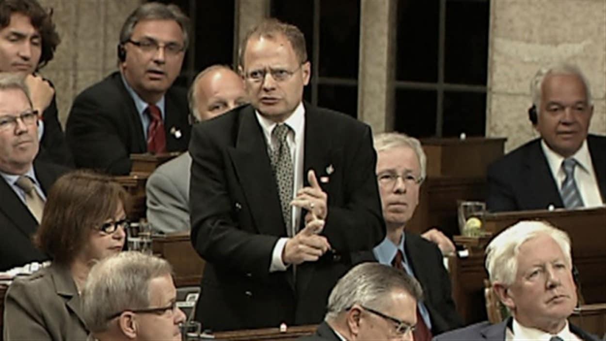 Le député fédéral de Winnipeg-Nord, Kevin Lamoureux, était dans un édifice du Parlement lors des incidents de mercredi matin à Ottawa.