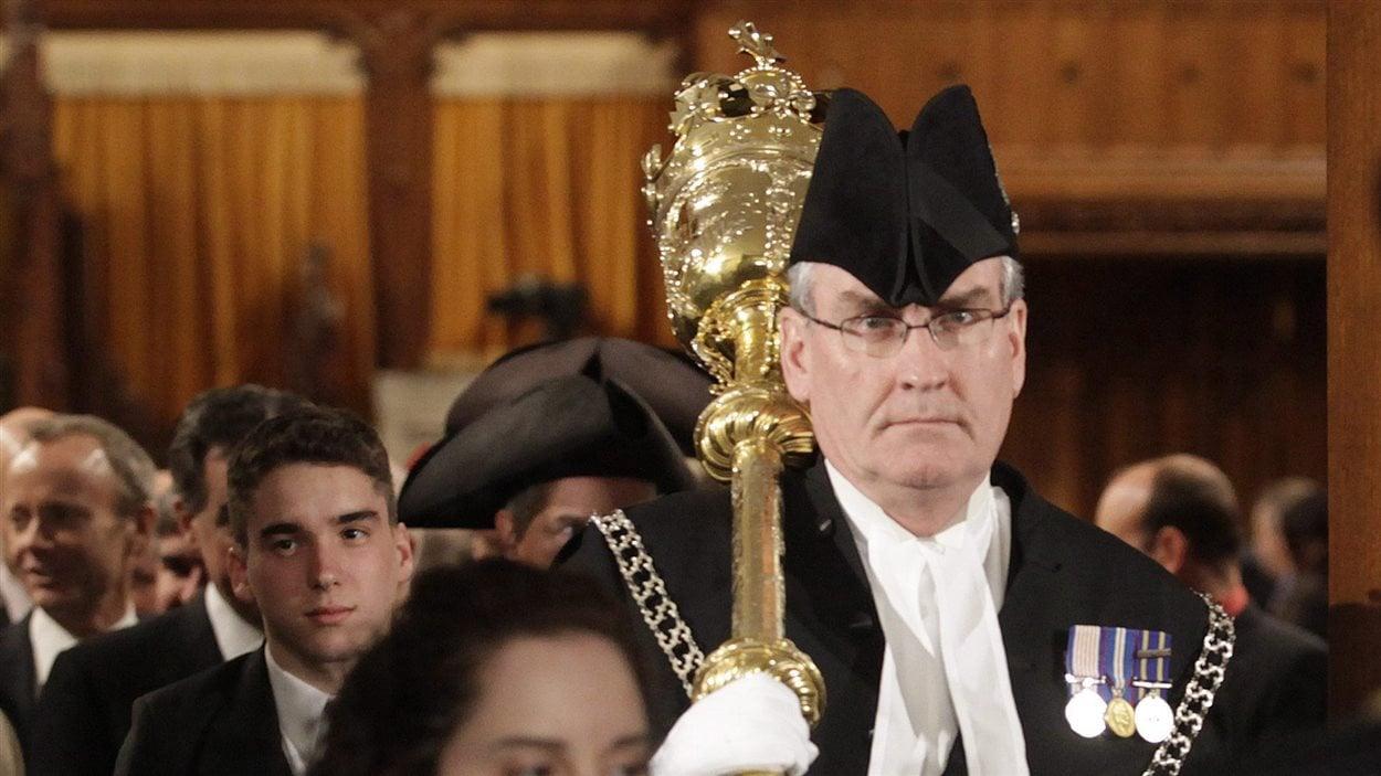 Le sergent d'armes Kevin Vickers, le 3 mars 2010.