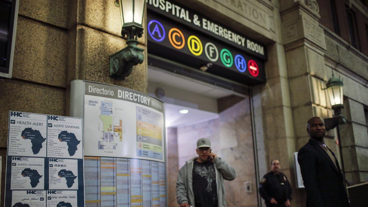 Le Dr Cragi Spencer, qui a contracté le virus Ebola en Guinée, est en quarantaine à l'Hôpital Bellevue de New York.