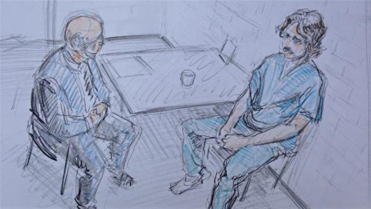 Justin Bourque lors de son interrogatoire le 6 juin